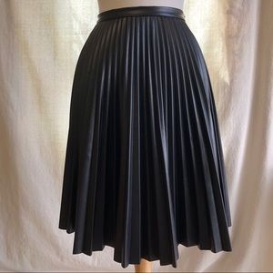 Super Fun Faux Leather Pleated Skirt